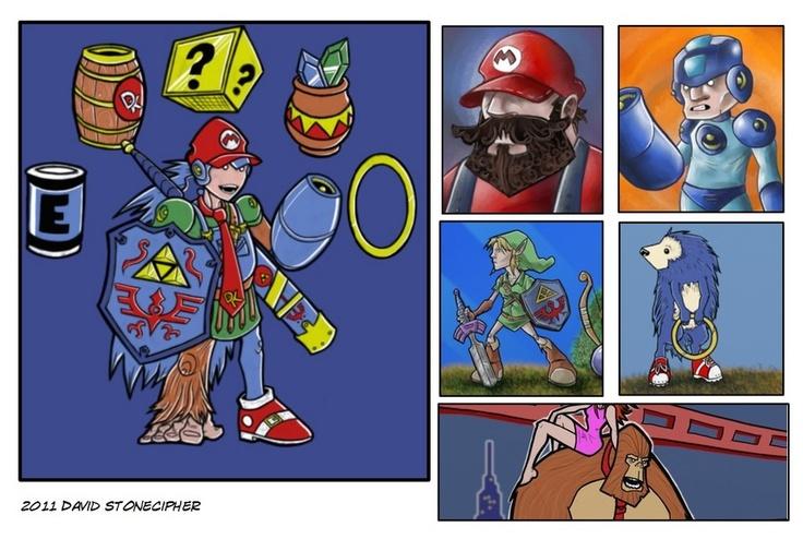 original classic video game artworks