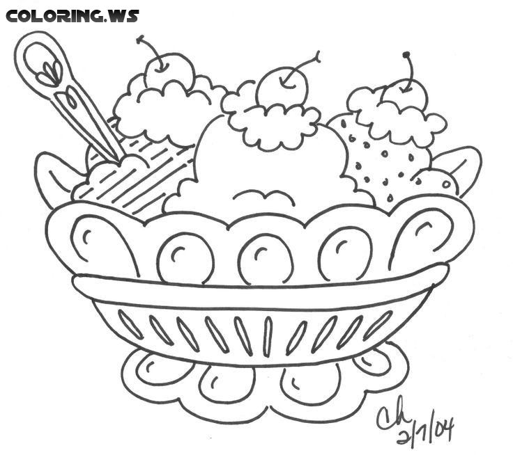 The Sundae A4 Jpg 595 842 Ice Cream Coloring Pages Coloring