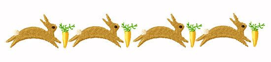 NURSERY BORDERS HARES Machine embroidery Designs by chelseabint