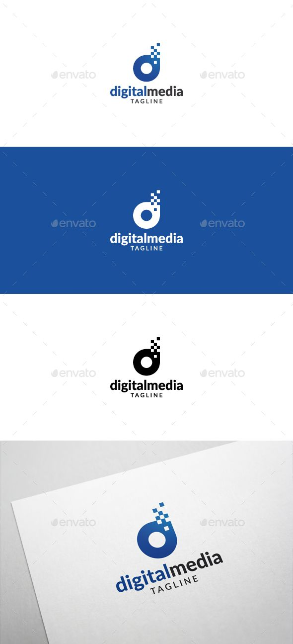 Digital Media Logo — Vector EPS #internet #media • Available here → https://graphicriver.net/item/digital-media-logo/5355324?ref=pxcr