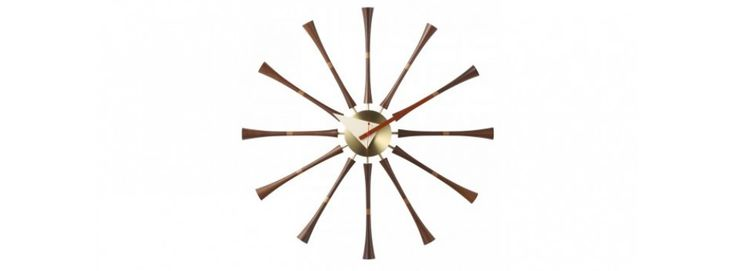 George Nelson Style Spindle Clock - Walnut £57.50 from Interior Addict