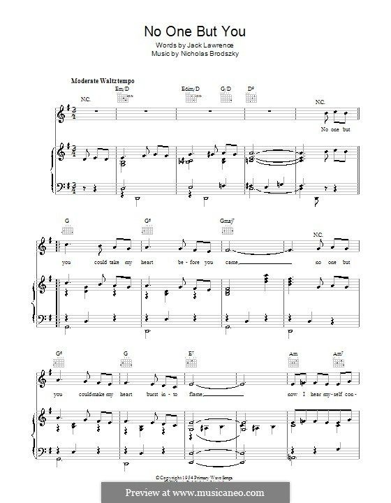 No One But You (Billy Eckstine) by N. Brodszky | Sheet music, Vince guaraldi, Music