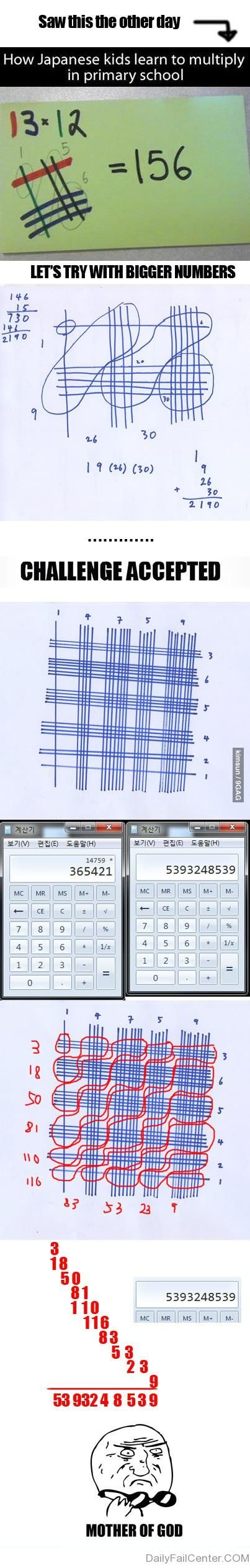 Japanese Math. My husband just showed me this last week!
