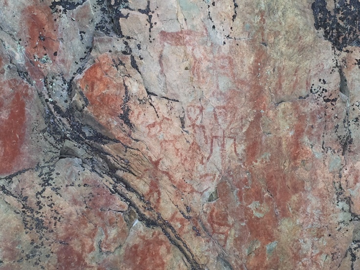 The Hossa Värikallio rock paintings are amongst the largest prehistoric rock paintings in Finland. The pictures on the rock wall rising from Lake Somerjärvi were painted in the Stone Age, i.e. about 3,500 - 4,500 years ago.