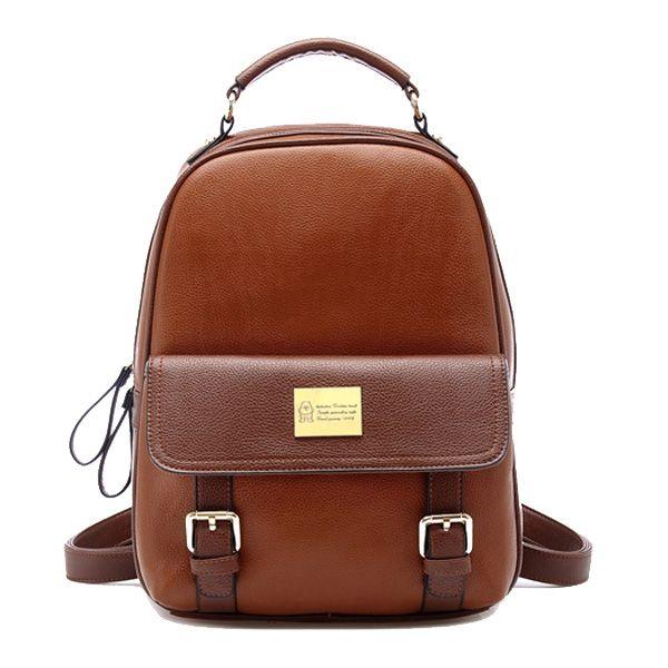 TinkskyR New Arrival Korean Fashion Bag Vintage Backpack College Students Schoolbag Brown