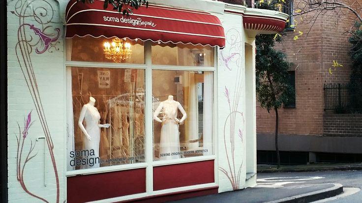 Parisienne style showroom window  @somadesign.com.au