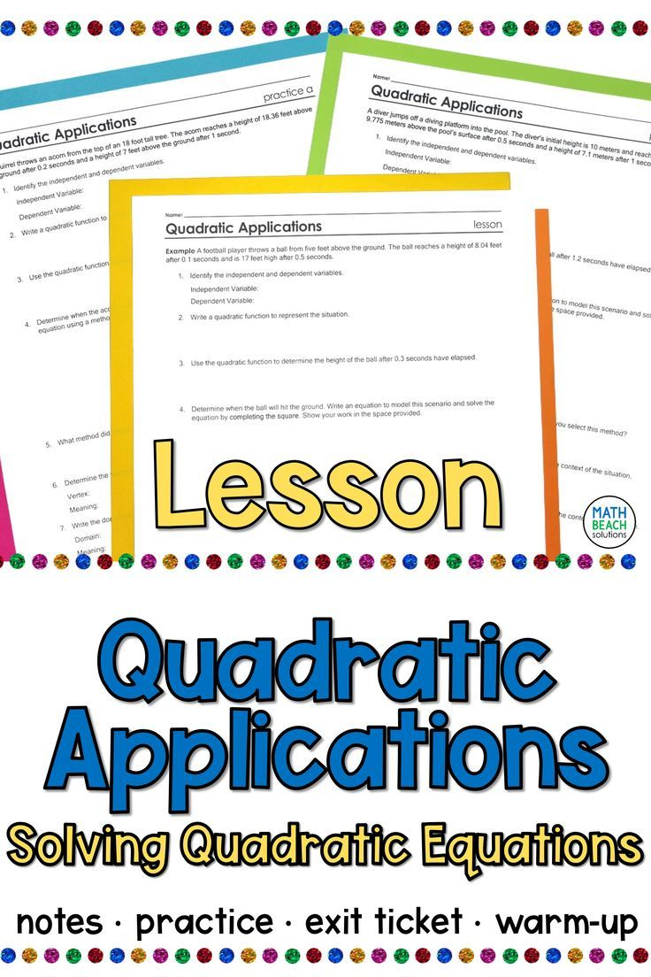 Pin on Quadratic Functions, Equations, and Inequalities