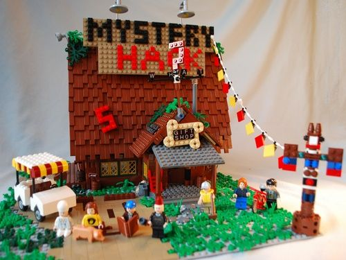 NOW THIS IS SOMETHING THAT NEEDS TO BE A THING! That would be so cool! Lego Gravity Falls!