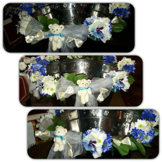 Cristelnita baietel ursulet www.buticulcuevenimente.ro