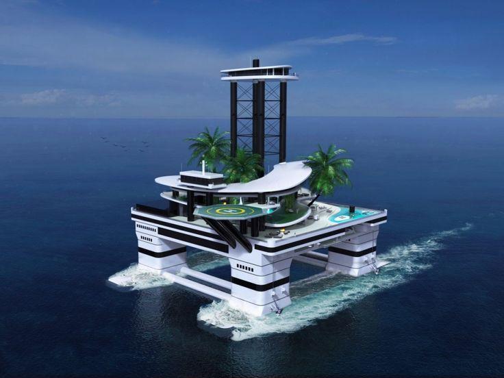 Los yates yanoestán demoda cuando hay una isla flotante como esta