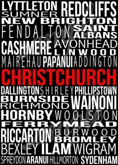 places in christchurch poster - Google Search