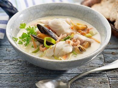 Zoals de zuiderse vissoep aan de Vlaamse kust gemaakt wordt: met kabeljauw en…