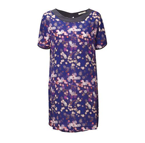Mesop Silk Light Years Tee Shirt Dress in Northern Lights $179 at Mol&bear