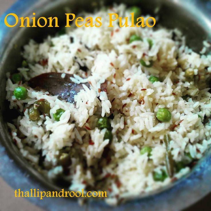Onion Peas Pulao