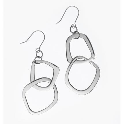 Polished Square Dangle Earrings-$30