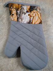 Horse Print Oven Mitts Available @ Keralot Equestrian Supplies