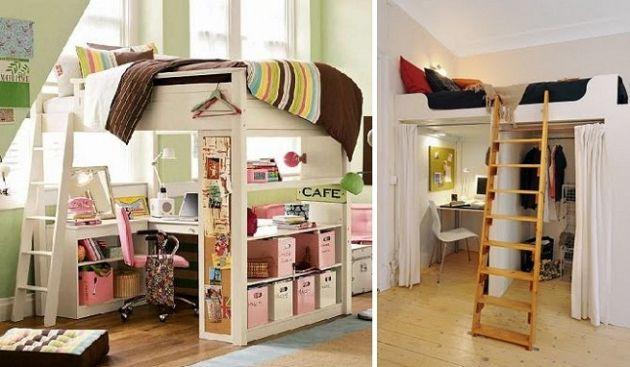 Camas altas para optimizar espacio llits bruna Pinterest Camas
