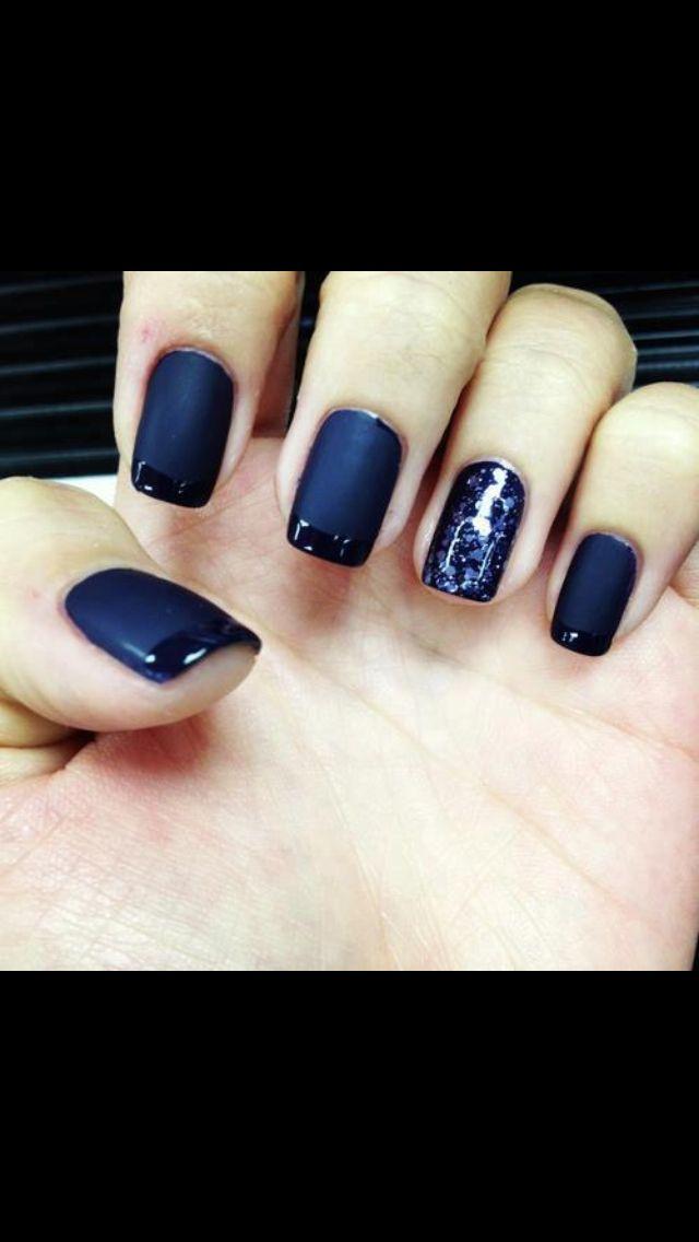 Matte Navy Blue Nails Nail Designs Pinterest Design I Love And Best Nail Art Designs