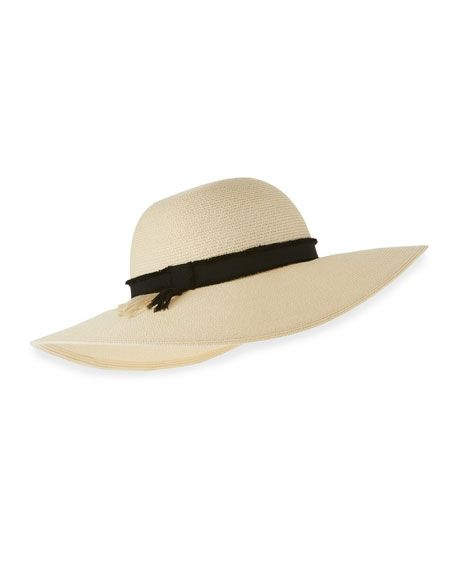 EUGENIA KIM Honey Toyo Sun Hat, Ivory. #eugeniakim #