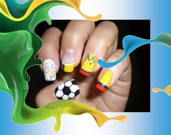 uñas de colombia #uñas mundialistas