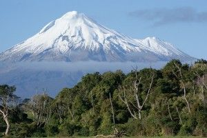 Build another snowman (but this time with Jack) on Egmont, the most perfect volcano I've ever seen.