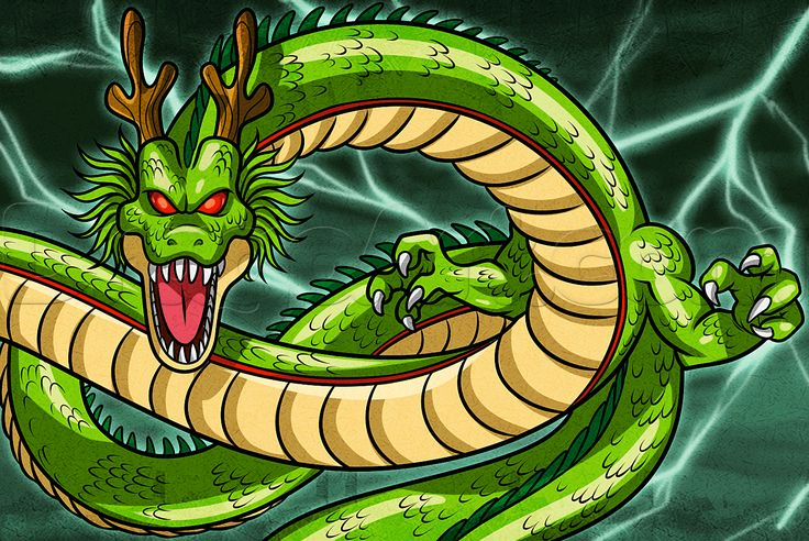 How To Draw Shenron From Dragon Ball Z Drawing DBZ Pinterest Z And
