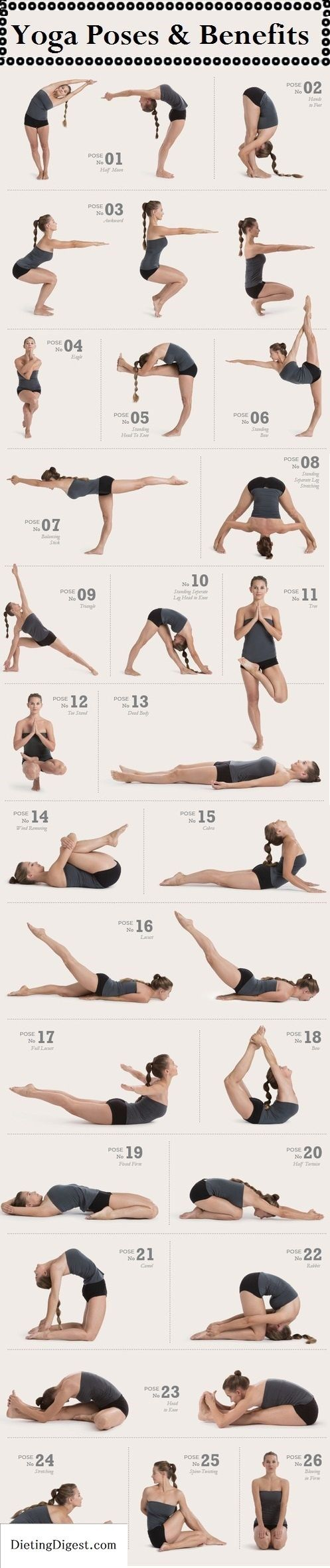 Yoga poses Check out Dieting Digest