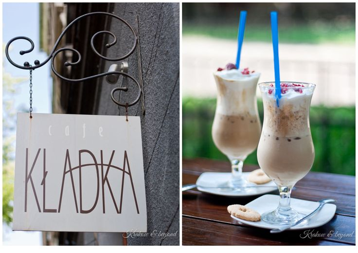 Kladka Cafe - great place for iced coffee in Krakow
