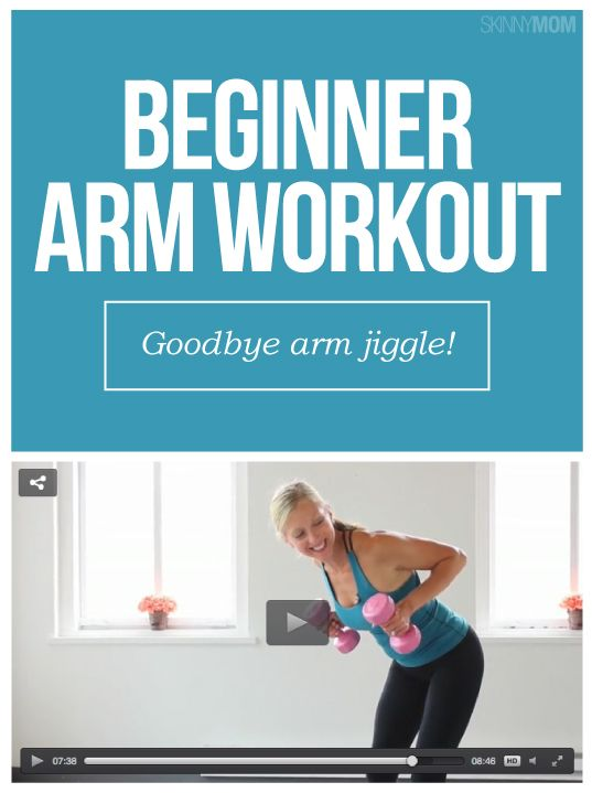 Get sexier arms with this simple, beginner arm workout!