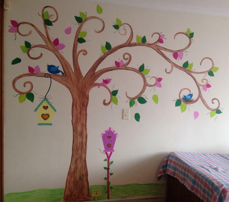 Mural pintado a mano para habitaci n murales pinterest for Mural para habitacion