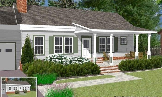 Image Result For Porches On Ranch Style Homes Front Porch Design Porch Roof Design Ranch House Designs