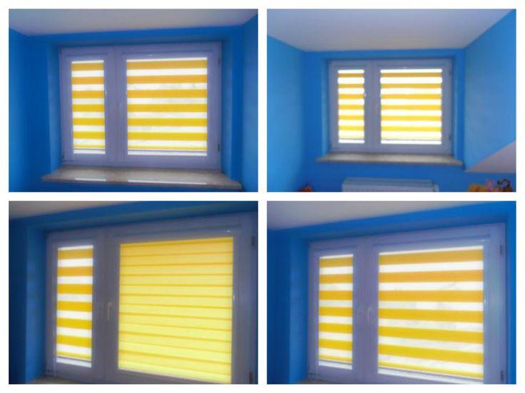 yellow shades / żółte rolety dzień-noc