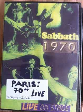 6. BLACK SABBATH - Live 1970 Paris collectible - very rare