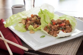 Thai Lettuce Wraps with Beef and Fresh Basil