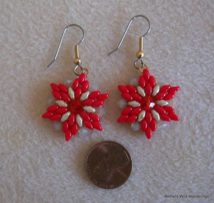 Super Duo & Crystal Flower Earrings Tuto pattern on Craftsy.com