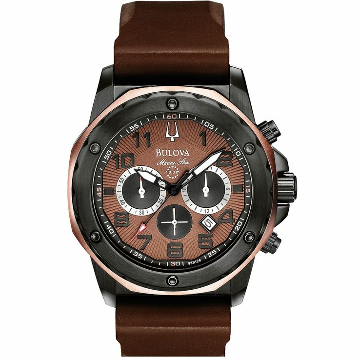 Reloj Bulova Men's Marine Star Brown Dial Strap 98B128 es parte de lo nuevo de Bulova en Your Outlet. Visítanos o consíguelo en nuestra página web al mejor precio.