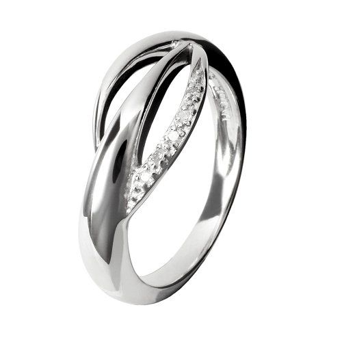 Hot Diamonds Wing Silver And Diamond Ring – Size M