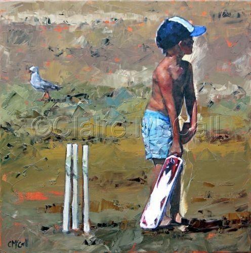 The Beach Cricketer by Claire McCall