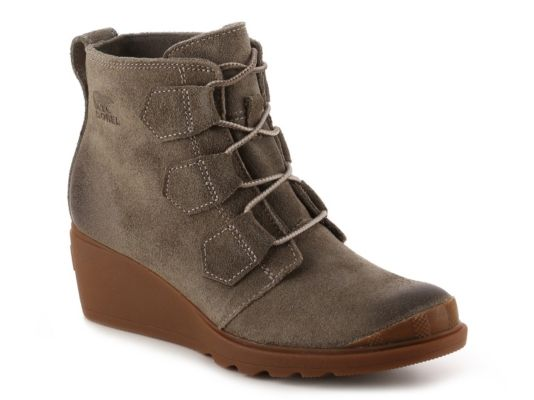 Women's Sorel Toronto Lace Wedge Bootie - Taupe