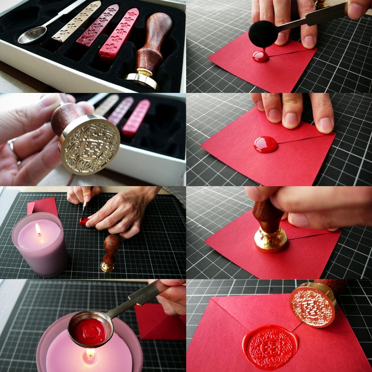 Wedding Invitation Card Wax Seal.