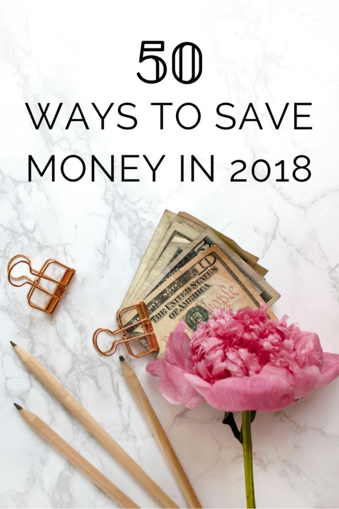 Live frugally in 2018! This post will give you 50 ways to save money and live frugally on a budget.