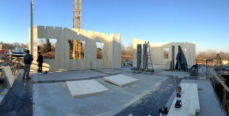 Case in legno - Fase di posa in opera - Sala Guido Legnami