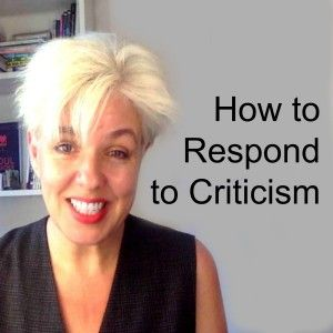 I know it hurts...so I've put together some tips on how to respond to criticism. Especially for musicians.