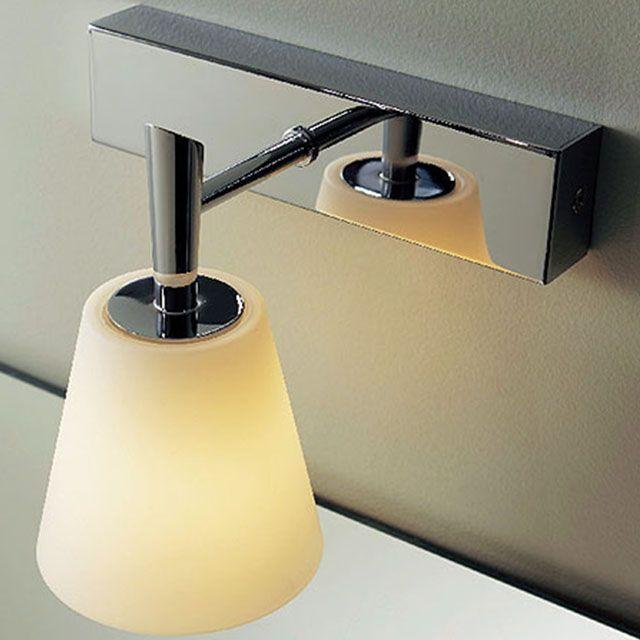 Salle de bains dessus miroir applique glacier chrome 40w castorama luminaires for Applique salle de bain avec interrupteur castorama
