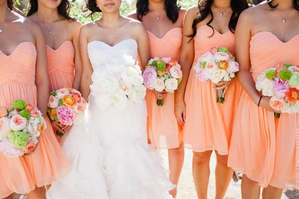 love the color of the dresses and the necklaces