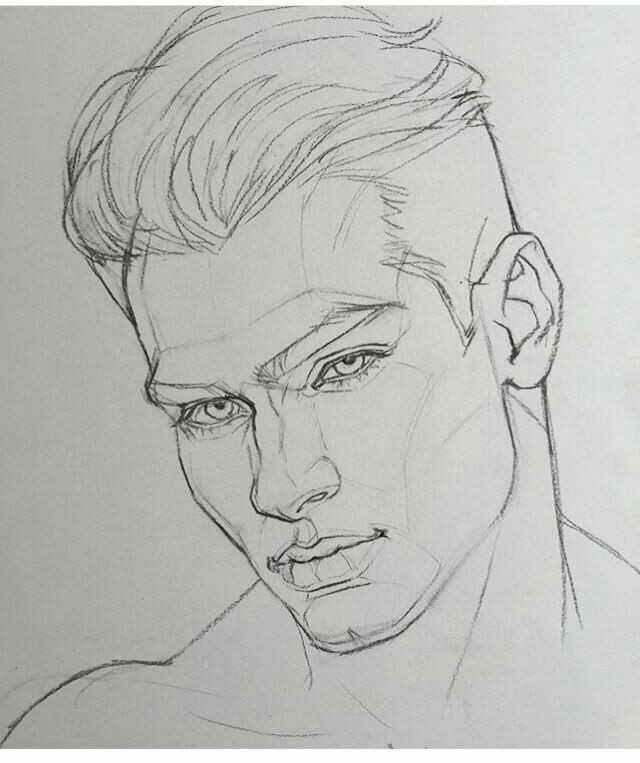 Karakalem Bayan Erkek Saç Çizimleri
