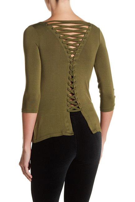 Image of Bailey 44 Cuba Libre Lace-Up Blouse