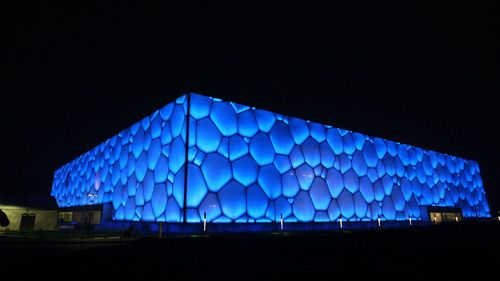 ETFE - provides good thermal insulation, allows 90% sunlight to come through. The Water Cube 2008 Beijing Olympics. ETFE Foils help heat the pool and so keep the bills down for maintenance.
