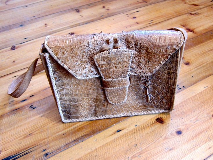 Vintage Crocodile Bag. £90  http://vintagethreadspeckham.wordpress.com/2012/07/19/its-in-the-bag/