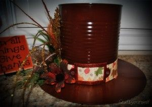 coffe can crafts   How to make a Thanksgiving Pilgrims hat - craftyourself.com